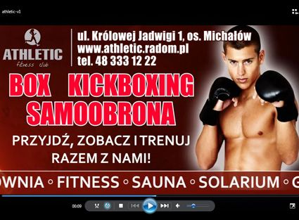 Spot reklamowy box, kickboxing... - ATHLETIC